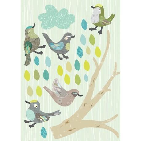 Stickers Les Oiseaux d'Abbie-Vert