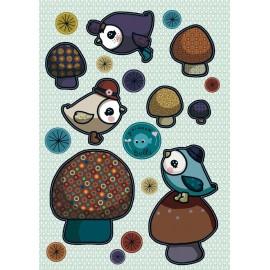 Stickers Piou- piou bleu