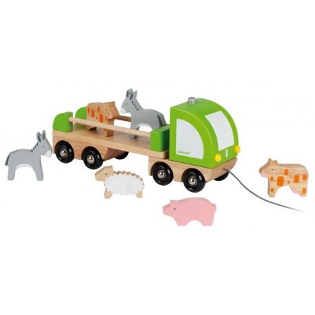 "Camion Multi Animo ""Animaux de la Ferme"" Janod"
