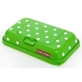 Funkybox Boites à lingettes Vert à pois (petite)