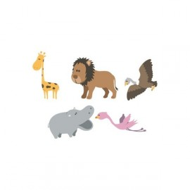 Stickers Enfants Version Hippo de la Savane