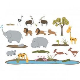 Stickers Frise Gazelles de la savane par Décoloopio