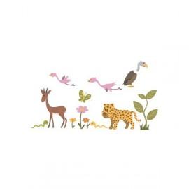 Stickers Enfants Eléments Savane par Décoloopio