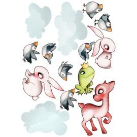 Sticker Planche Animaux de la Forêt