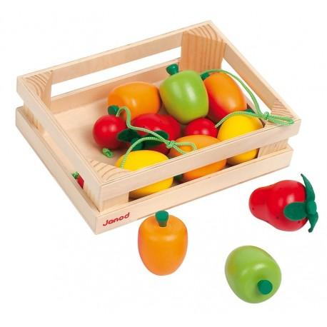 Cagette 12 fruits en bois Janod