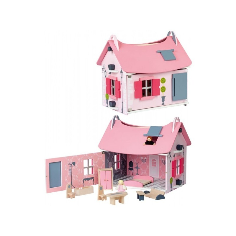 maison de poup es little mademoiselle janod. Black Bedroom Furniture Sets. Home Design Ideas