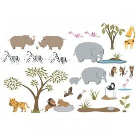 Stickers Enfant Frise Rhino Décoloopio