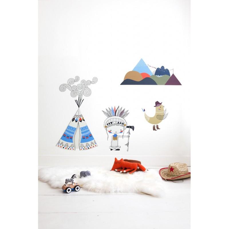 sticker indientipi gar on. Black Bedroom Furniture Sets. Home Design Ideas