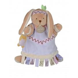 Doudou Marionnette Lapin Etiquette Doudou et Compagnie