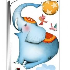 Sticker planche éléphant funambule