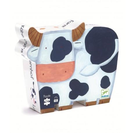 Puzzle silhouette Les vaches à la ferme 24 pièces Djeco
