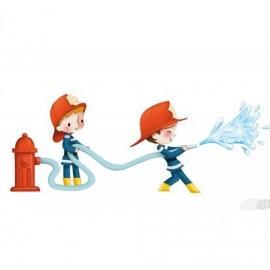 Sticker Pompiers arroseurs