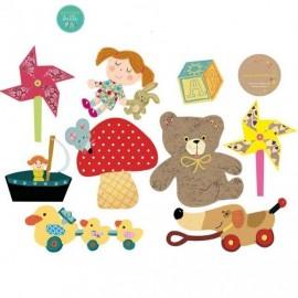 """Sticker """"Les jouets Rétro Fille"""""""