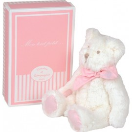 Peluche Mon tout petit ours rose 25cm Doudou et Compagnie