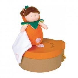 Les Demoiselles Douillettes Poupée Orange Doudou et Compagnie