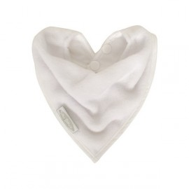 Bavoir de Dentition Bandana Anti-Taches Blanc Silly Billyz