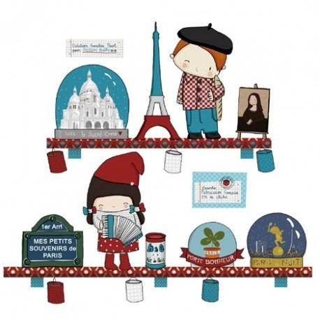 Sticker Souvenirs de Paris par Poisson Bulle
