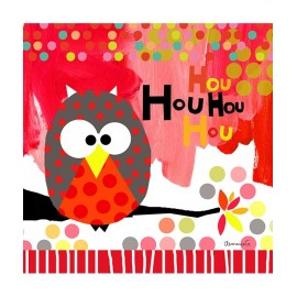 Tableau Hibou rouge Lilipinso