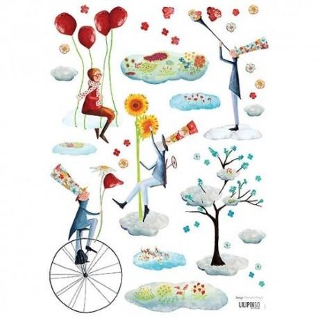 Stickers Les jardiniers du ciel Lilipinso
