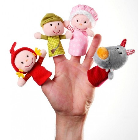 Marionnettes à doigts Le petit chaperon rouge Lilliputiens
