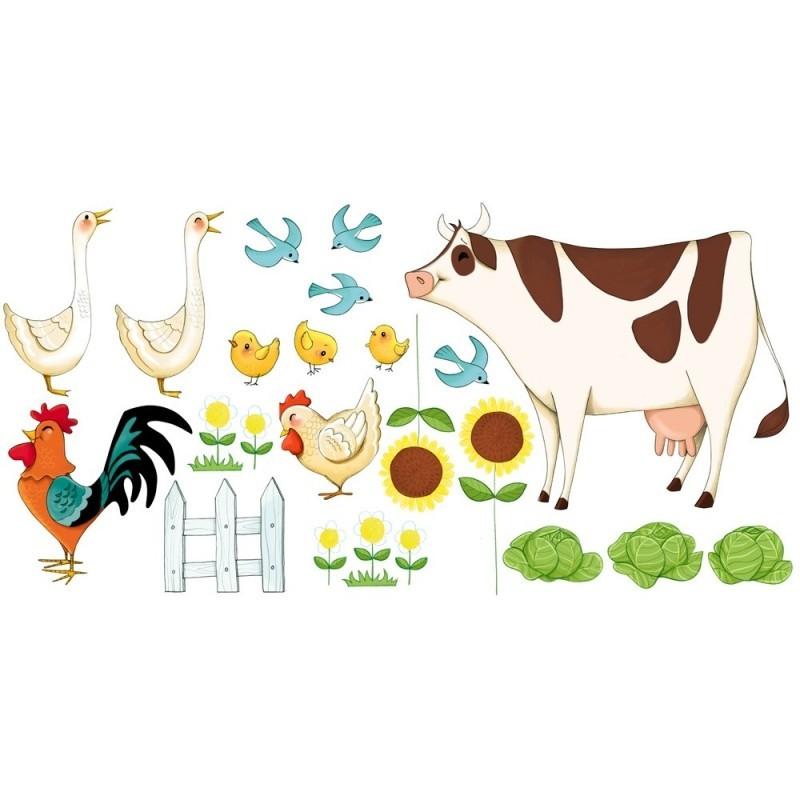Stickers Enfant Les Animaux De La Ferme