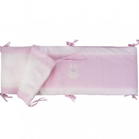 Tour de lit complet Ange lapin rose Trousselier