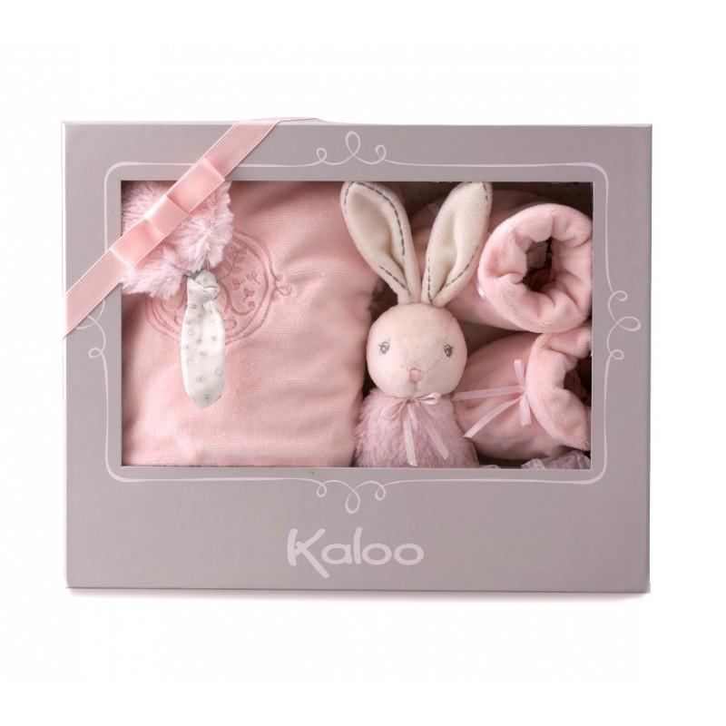 coffret cadeau de naissance perle rose kaloo. Black Bedroom Furniture Sets. Home Design Ideas