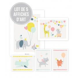 Lot affiches Animaux fille Lilipinso