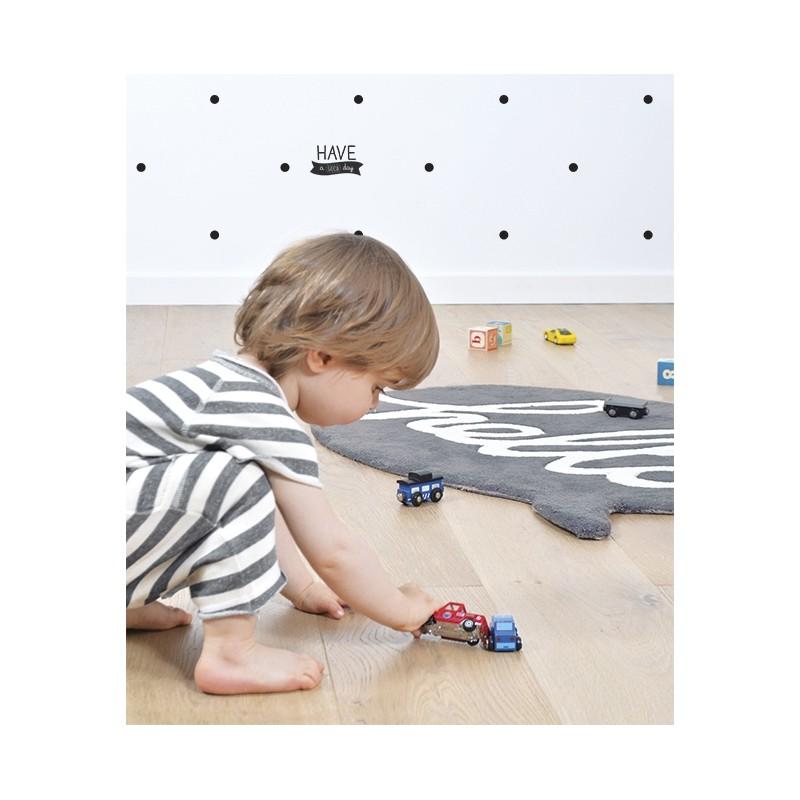 tapis chambre d 39 enfant gris hello lilipinso. Black Bedroom Furniture Sets. Home Design Ideas