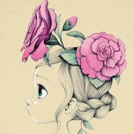 Tableau enfant Wild girl 01