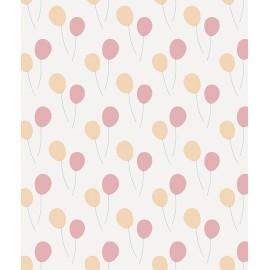 Lé de papier peint Ballons roses et oranges Lilipinso