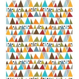 Lé de papier peint géométrique multicolore