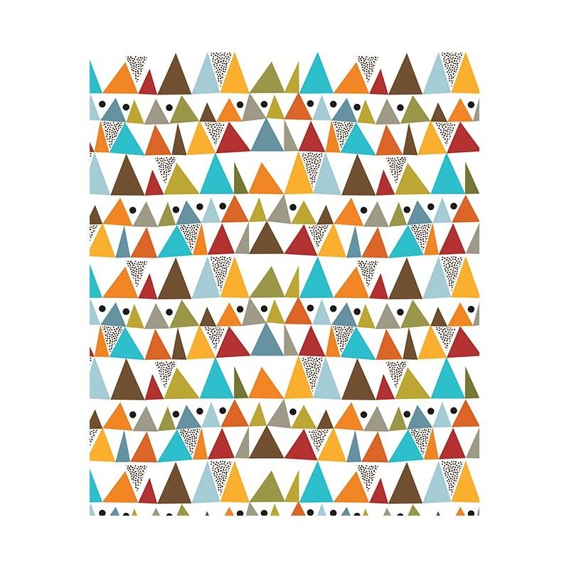 L de papier peint g om trique multicolore lilipinso - Le de papier peint ...