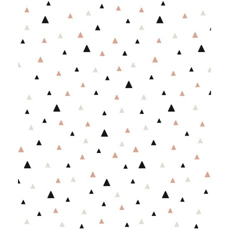 Merveilleux Papier Peint Géométrique Triangle Noir Et Corail Lilipinso