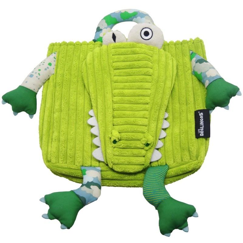 1dc98132918 Sac à dos Aligatos Déglingos : cartable crocodile !