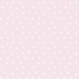 Papier peint rose et courronnes Lilipinso