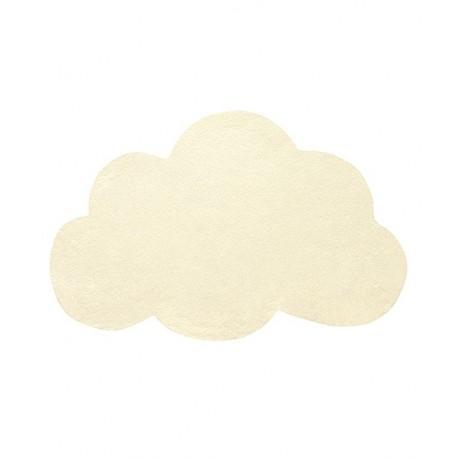 Tapis chambre bébé nuage jaune pastel Lilipinso