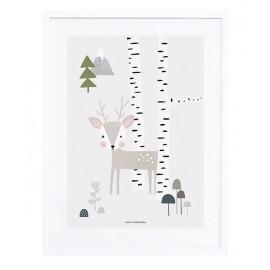Affiche avec cadre Cerf Lilipinso