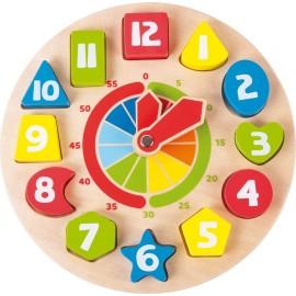 Horloge pour apprendre l'heure Formes Legler