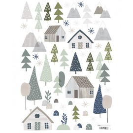 Stickers Forêts maisons et arbres Lilipinso