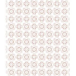 Papier peint imitation carreaux de ciment fleurs Lilipinso