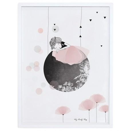 Affiche encadrée Danseuse sur la lune Lilipinso