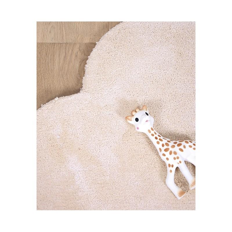 tapis chambre b b en forme de nuage orange pastel lilipinso. Black Bedroom Furniture Sets. Home Design Ideas