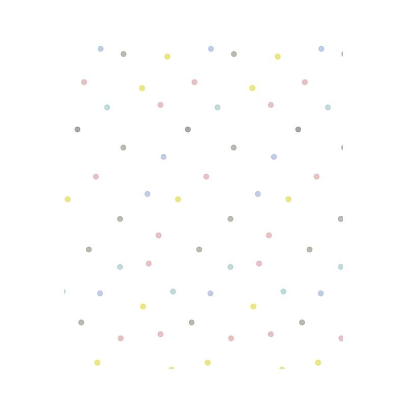 papier peint 224 pois multicolores lilipinso pour chambre de