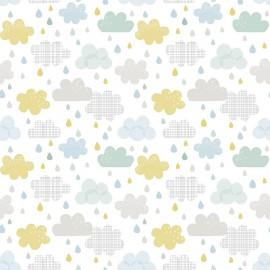 Papier peint Gouttes et nuages Lilipinso