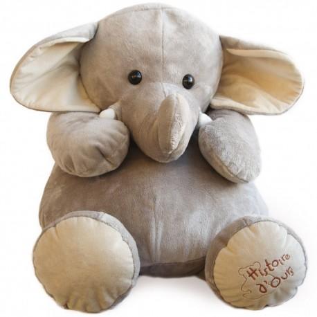 Peluche Eléphant géant 60cm Histoire d'Ours
