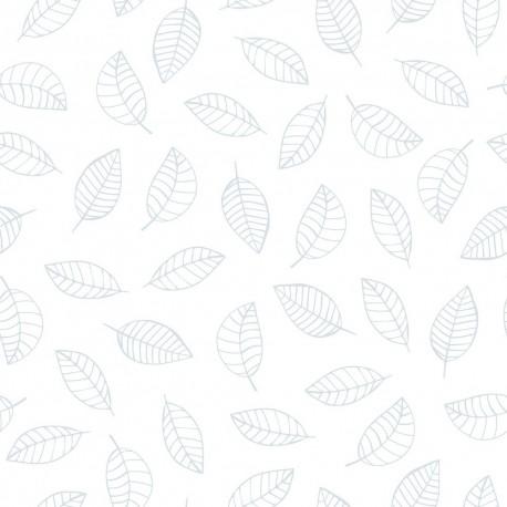 papier peint enfant feuilles bleues lilipinso. Black Bedroom Furniture Sets. Home Design Ideas