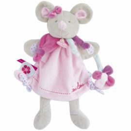 Doudou Chat avec souris marionnette Doudou et Compagnie