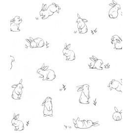 Papier peint Petis lapins Lilipinso