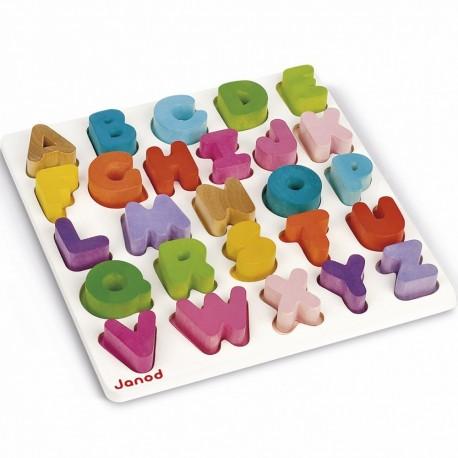 Puzzle alphabet I wood par  Janod